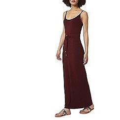 Dorothy Perkins - Wine strappy maxi dress