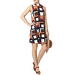 Dorothy Perkins - Orange geo sleeveless swing dress