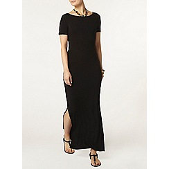 Dorothy Perkins - Black slit t shirt maxi dress