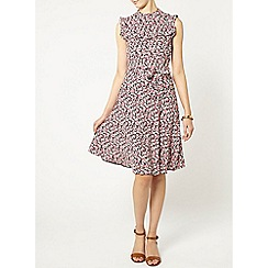 Dorothy Perkins - Raspberry frill dress