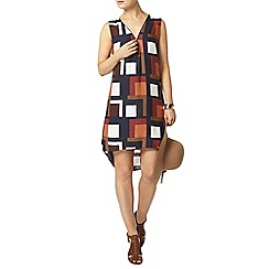 Dorothy Perkins - Rust geo print shift