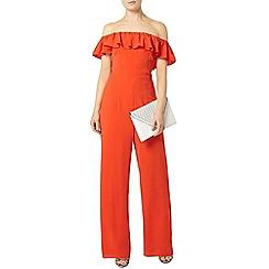 Dorothy Perkins - Red bardot ruffle jumpsuit