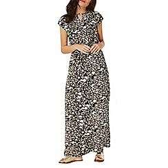Dorothy Perkins - Black ditsy floral print jersey maxi dress