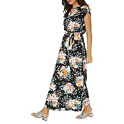 Dorothy Perkins - Black graphic floral print jersey maxi dress