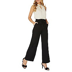 Dorothy Perkins - Black and white spotted twist neck jumpsuit