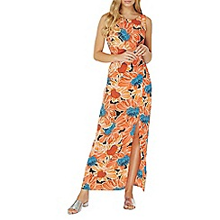 Dorothy Perkins - Orange floral print maxi dress