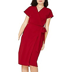 Dorothy Perkins - Wine crepe wrap dress