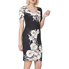 Dorothy Perkins - Floral print v-neck pencil dress