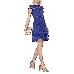 Dorothy Perkins - Blue belted lace dress