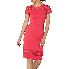Dorothy Perkins - Pink daisy lace pencil dress