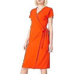 Dorothy Perkins - Red crepe wrap dress