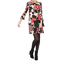 Dorothy Perkins - Red floral print swing dress