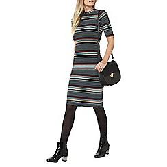 Dorothy Perkins - Black striped bodycon dress