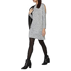 Dorothy Perkins - Grey cold shoulder shift dress