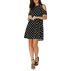 Dorothy Perkins - Black polka dot skater dress