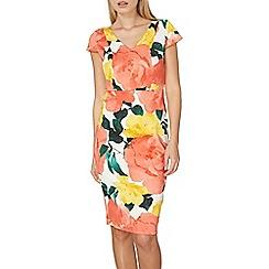 Dorothy Perkins - Pink floral pencil dress