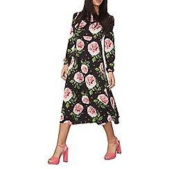 Dorothy Perkins - Black floral long sleeve dress