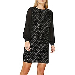 Dorothy Perkins - Black diamante detail shift dress