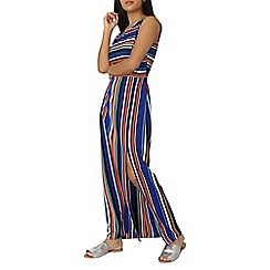 Dorothy Perkins - Multi coloured striped maxi dress with tie waist