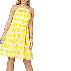 Dorothy Perkins - Yellow floral prom dress