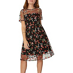 Dorothy Perkins - Floral embroidered fit and flare dress