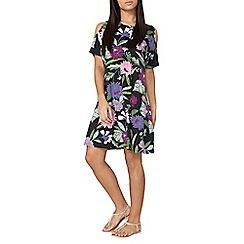 Dorothy Perkins - Floral cold shoulder swing dress