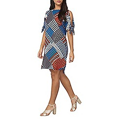 Dorothy Perkins - Geo tie sleeves shift dress