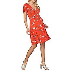 Dorothy Perkins - Floral print wrap dress