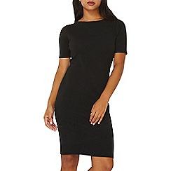 Dorothy Perkins - Black short sleeve bodycon dress