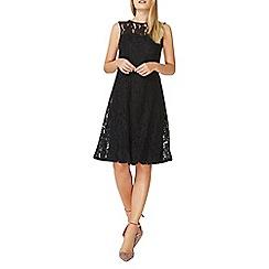 Dorothy Perkins - Black lace midi skater dress