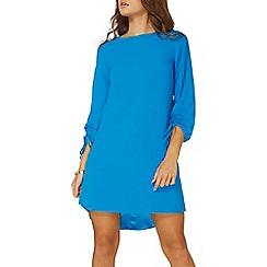 Dorothy Perkins - Blue ruched sleeve shift dress