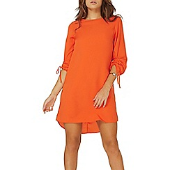 Dorothy Perkins - Orange ruched sleeves shift dress