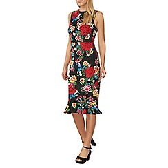 Dorothy Perkins - Red floral ruffle pencil dress