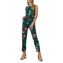 Dorothy Perkins - Green rose floral jumpsuit