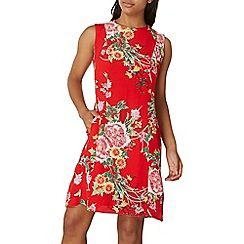 Dorothy Perkins - Red oriental print fit and flare dress