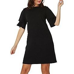 Dorothy Perkins - Black double ruffle shift dress