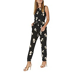 Dorothy Perkins - Black spot and floral print jumpsuit