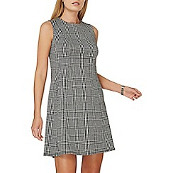Dorothy Perkins - Black check fit and flare dress