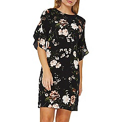 Dorothy Perkins - Black floral print shift dress