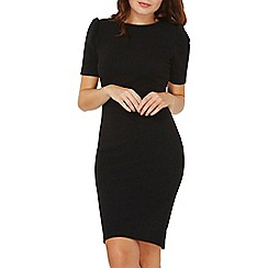 Dorothy Perkins - Black puffed sleeve bodycon dress