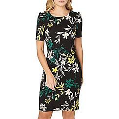 Dorothy Perkins - Black floral print puff sleeves shift dress