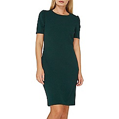 Dorothy Perkins - Green puff sleeve bodycon dress