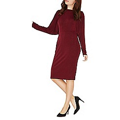 Dorothy Perkins - Berry red batwing bodycon dress