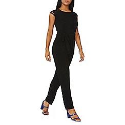 Dorothy Perkins - Black lace shoulder jumpsuit
