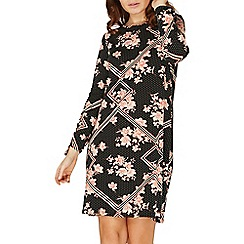 Dorothy Perkins - Black spotted geometric swing dress