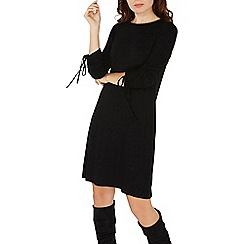 Dorothy Perkins - Black rouched sleeves swing dress