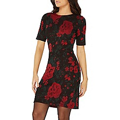Dorothy Perkins - Multi coloured rose print bodycon dress
