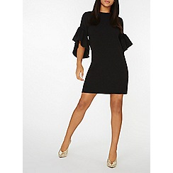 Dorothy Perkins - Black ruffle sleeves shift dress