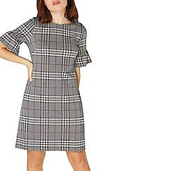 Dorothy Perkins - Grey check frill shift dress