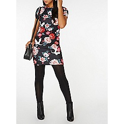 Dorothy Perkins - Multi coloured floral print bodycon dress